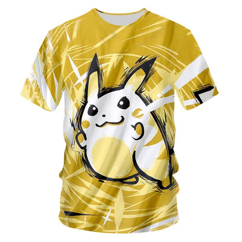 Camiseta Pokemon 2018 verano Tops hombres 3d estampado divertido Anime camisetas pantalón corto Casual manga ropa informal estilo Hip Hop camisetas Fitness camiseta