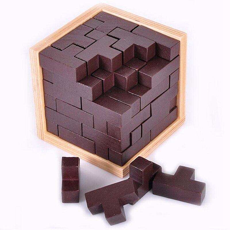 Обучающие 3D пазлы, деревянные игрушки для детей и взрослых, 54T