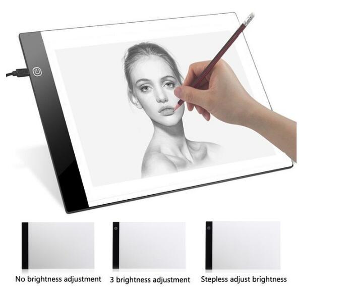 Pad luz pintura diamante A4 LED Cabo USB Pad Dimmable Ultra Fino led light box lichtbak voor pintura diamante