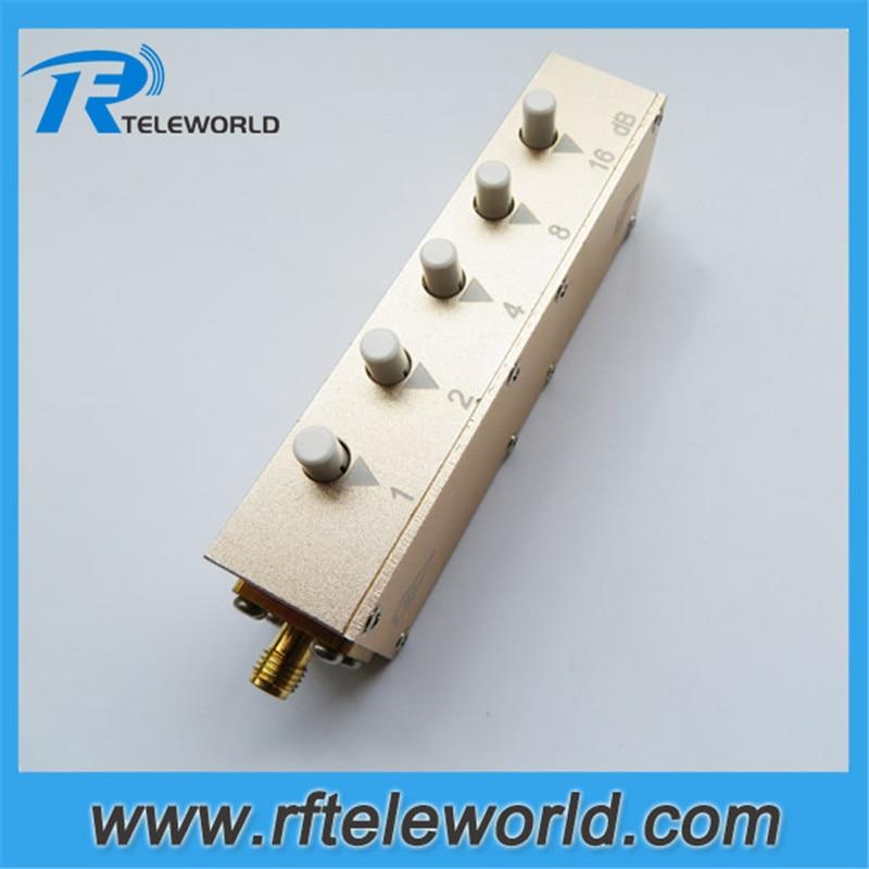free shipping 0-30db 2.5GHz/3GHz 50ohms SMA 1dB stepped variable keypress attenuators