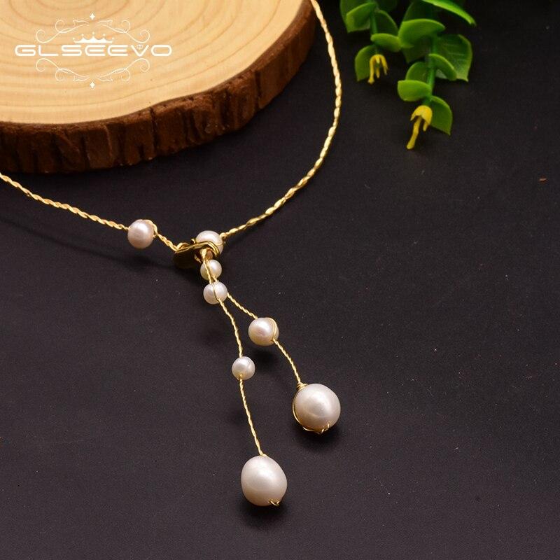 Collar De perla natural De agua dulce XlentAg para mujer, regalo De boda, cumpleaños, collar De joyas De Moda 2019 GN0122
