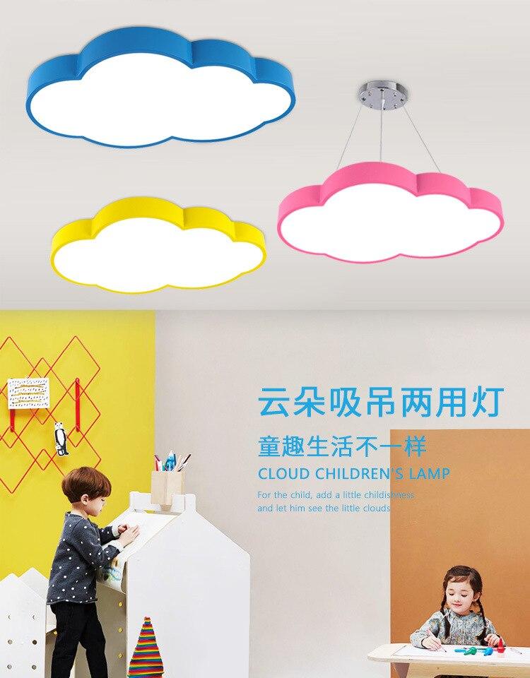 Lámparas de modelado de clase de entrenamiento de lámpara de techo LED de nube