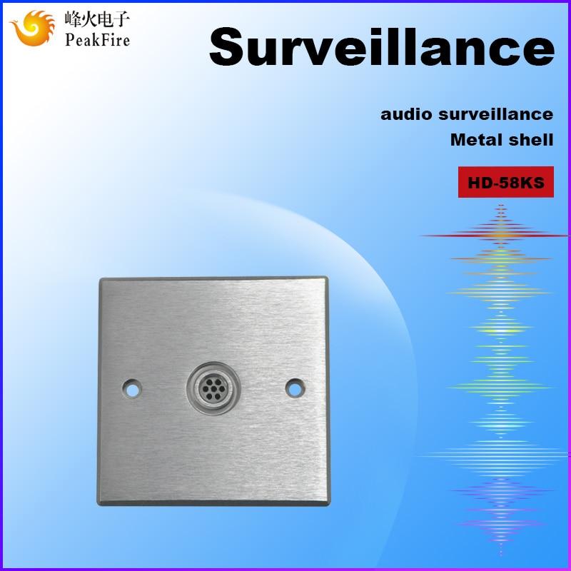 Hidden Audio Surveillance Pickup Microphone Security Hearing Equipment High Sensitive Audio Microphone