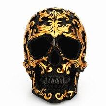 Mini crâne en résine 1 pièce peint à la main   Décoration artisanale, cadeau de fête dhalloween, Miniatures de décoration pour la maison
