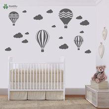 Hot Air Balloons & Clouds Wall Stickers Kids Nursery Rooms Wall Decal Vinyl Wall Art Decor Sticker Interior Home Mural DIY ZW169