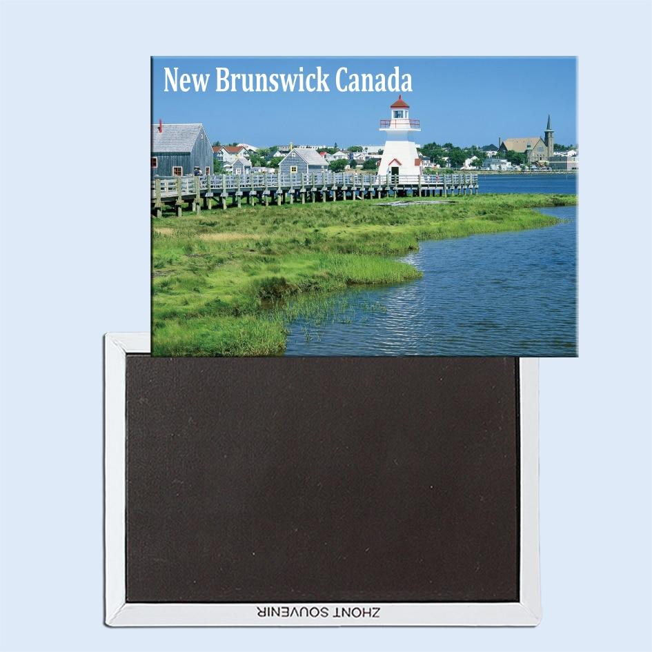 Le Pays de la sakuine, Bouctouche, New Brunswick, Canadá, nevera magnética fijada con recuerdos turísticos 24870