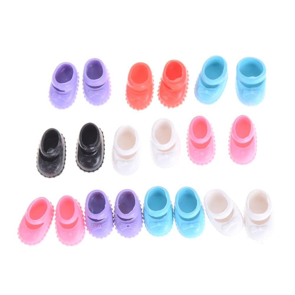 handmade high quality doll shoes for blythe azone momokolati jerryb doll accessories toys gift girl play house free shipping 5Pairs Doll Shoes Accessories For Kelly Doll Confused Doll Shoes Kids Gift Toy 12cm best gift for girl