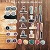 27 stücke Retro-Japanischen Baitacang luft komprimiert TN clip schlamm-versiegelt schwefelsäure papier selbst-adhesive dekorative aufkleber