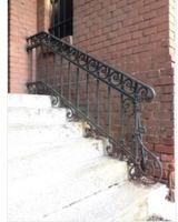 Hench 100% handmade forged custom designs iron patio railing decorative