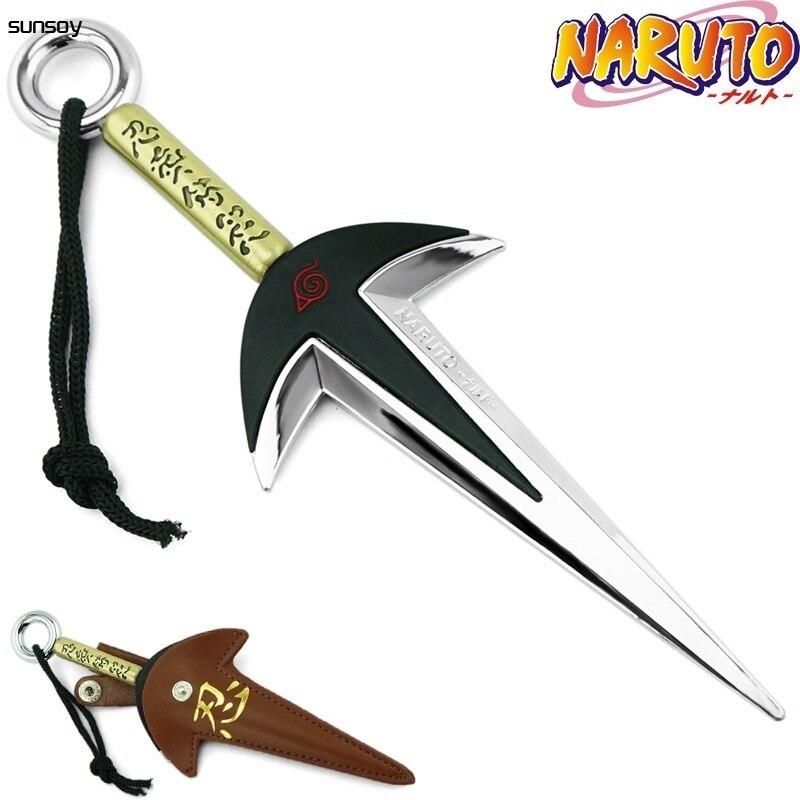 Naruto quatrième jouet Yondaime Namikaze Minato Kunai avec étui en cuir 18CM Naruto figurine daction jouets japonais pour cadeau garçon