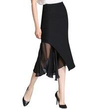 Kenvy 2018 marca moda luxo irregular fuffles saias