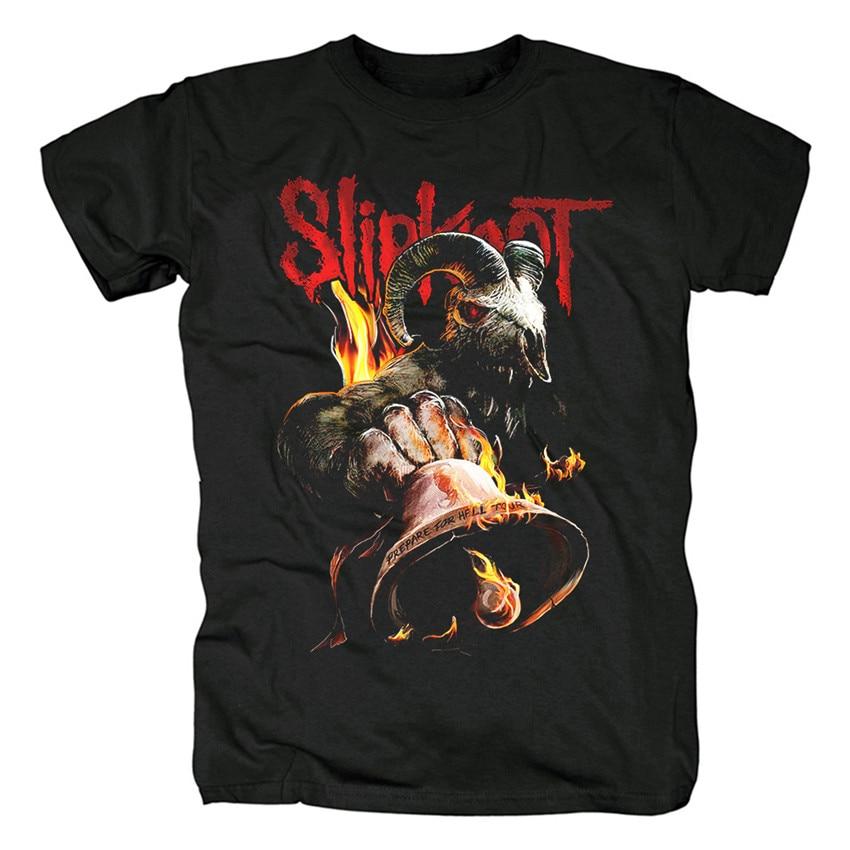 15 Designs Heavy Metal Slipknot Band camisetas Rock Brand mens clothing shirt Punk thrash Skull Goat DEVIL Demon Streetwear tee