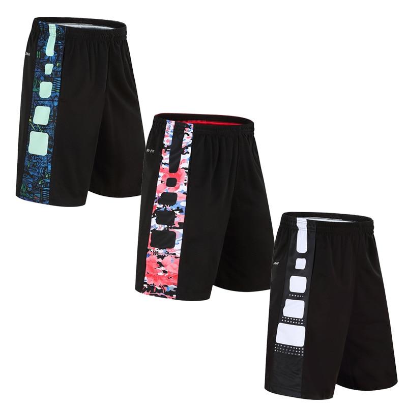 Men Basketball Shorts Elastic Sports Jerseys 2 Zippers Basketball Loose Sportswear Sport Men's Shorts