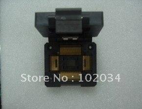 100% nuevo IC51-1284 QFP128 TQFP128 toma de prueba IC/Adaptador de programador/Toma de encendido (IC51-1284-1433) 0,5 MM