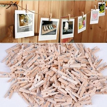 NAI YUE 2020 de moda 50x25MM Mini de madera Natural ropa Pin foto papel Peg pinza de ropa artesanal Clips