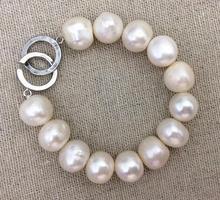 Nouveau Arriver grand Bracelet de perles 10-14mm taille Bracelet de perles deau douce de mariage anniversaire amour fête des mères cadeau gros bijoux de perles