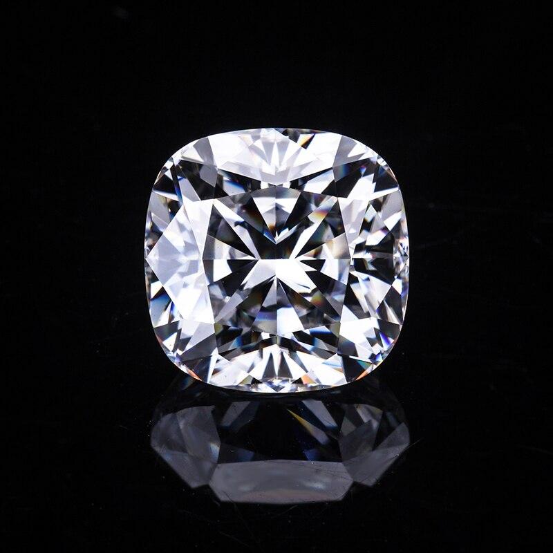 EF-أحجار مويسانيتي فضفاضة لصنع المجوهرات ، لون أبيض 6*6 مم وسادة معدلة