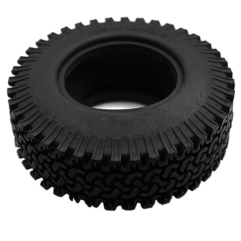 1 ud. 1/10 RC Beadlock ruedas neumático Crawler 1,9 pulgadas neumáticos Crawler 98mm rueda Axial Crawler para Tamiya camión F350 Axial negro