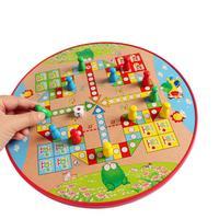 עץ דמקה עף שחמט 2 ב 1 לוח משחק פאזל לילדים לוח משחק מוקדם חינוך צעצועים