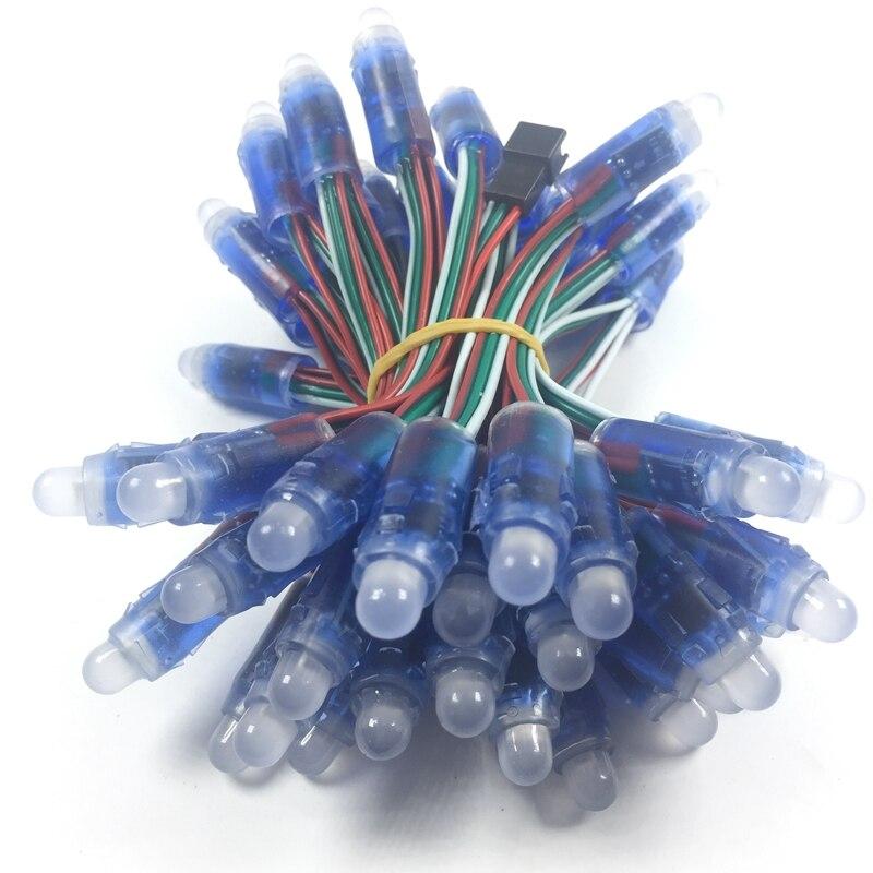 Светодиодный модуль ws2811, 5 В, 12 мм, 50 точек, цифровой rgb полный цвет, Водонепроницаемая ip68 светодиодная нить для букв