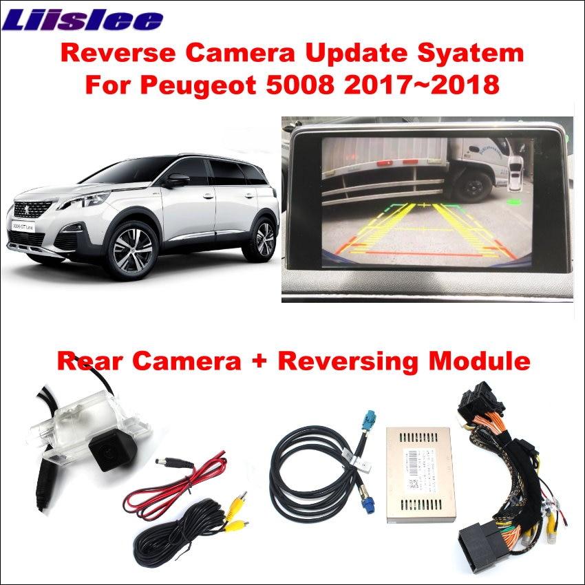 Car Front Reversing Rear View Camera For Peugeot 5008 2017~2018 Original Screen Upgrade Interface Module HD Digital Decoder