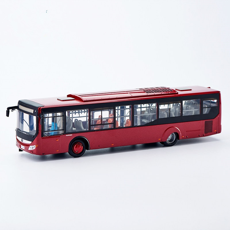 Collectible Alloy Toy Model Gift 1:42 Original Yutong ZK6128 Auto City Transit Bus Vehicle DieCast Toy Model for Decoration alloy model 1 24 scale kinglong higer bev pure electric transit bus vehicle diecast toy model for collection decoration