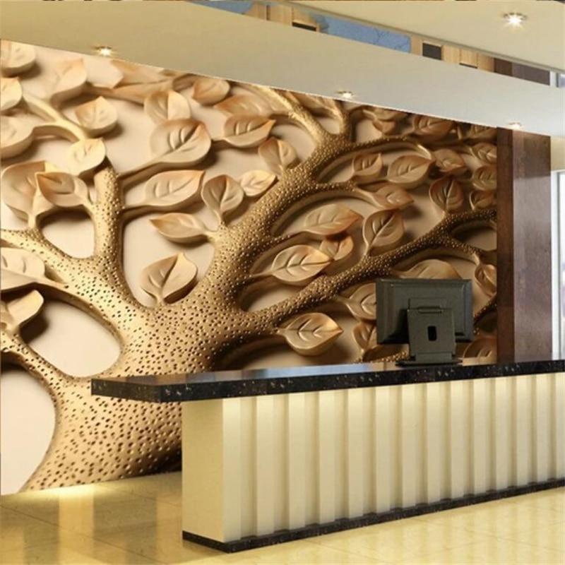 Papel tapiz personalizado wellyu, papel tapiz 3D para hacer dinero, árbol, sala de estar, papel tapiz para habitación, papel de pared, papel de pared, pintura decorativa, papel tapiz 3d