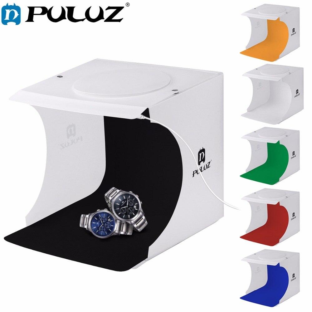 """Puluz 20*20cm 8 """"mini câmera dobrável caixa de fotografia estúdio luz tenda kit lightroom emart estúdio difusa softbox lightbox"""