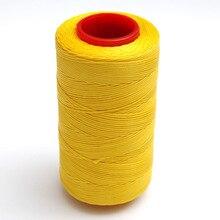 Geel 250 Meter 1 Mm Platte Waxed Wax Draad Koord Naaien Craft Voor Diy Leather Hand Naaien 6