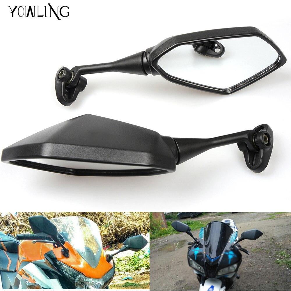Espejos de motocicleta, espejo retrovisor de bicicleta deportiva ATV para Honda CBR F4 F4i/RC51/RVT 1000 DD250E/DD300/350 HYOSUNG GT650r gt250r