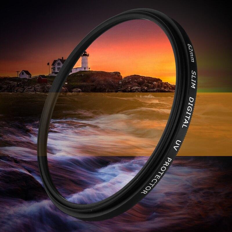 Câmera Ultra-Violeta UV Filtro Lens Protector para sony NEX-7 6 5 5N 5R 5 T 3 C3 F3 A99 A900 A77 A65 A57 A58 A37 A35 A33 A580 A700