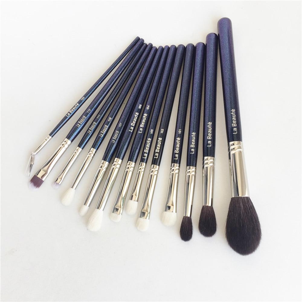 La Beaute Komplette set-12-Pinsel Hochwertige Ziegenhaar Gesicht & Augen Satz-Schönheit Make-Up Pinsel Mixer werkzeug