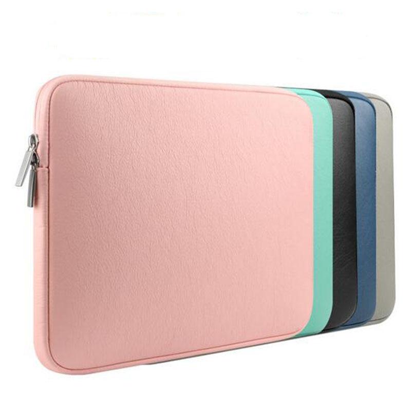 Funda de cuero PU para portátil, funda para Apple MacBook Pro/ Air...