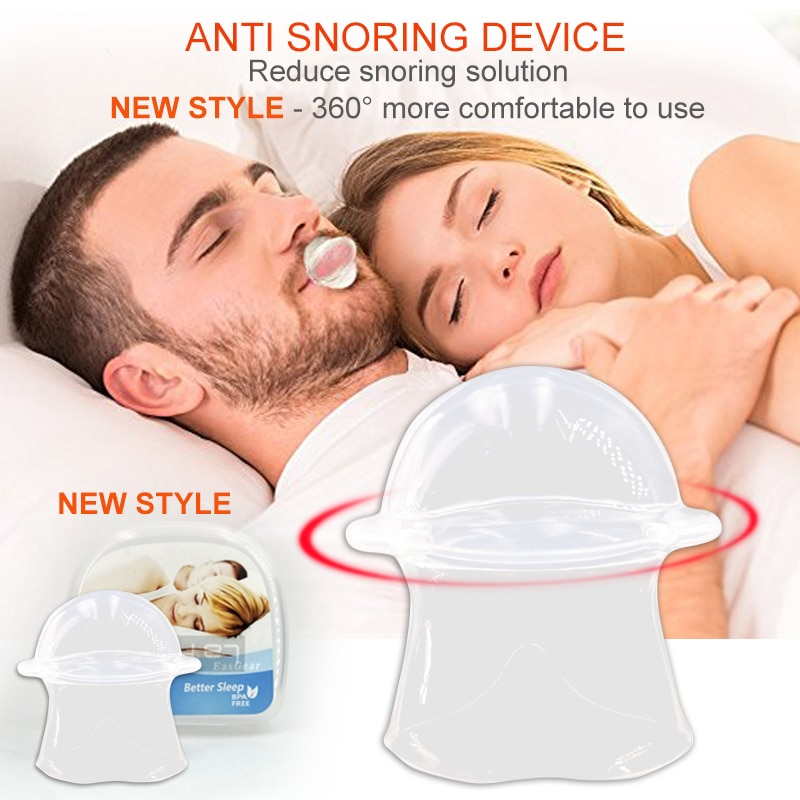 2018 nuevo estilo de silicona lengua anti ronquido dispositivo de retención solución de ronquido sueño respiración Apnea protección nocturna ayuda manga de parada