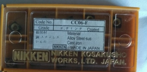 10 Uds NIKKEN inserto de carburo de CC06-F