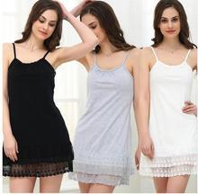 Weiß Frauen Mutterschaft Nachtwäsche Sommer Kleid Weibliche Spitze Sexy Chemise Tunika Baumwolle plus Größe 4XL Weiß Schwarz Mori Mädchen Lolita
