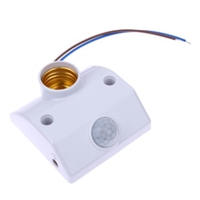E27 AC220 50/60HZ Infrared Motion Sensor Light  Switch Automatic Lamp Holder Intelligent Light Motion Sensing Switch W/ Screws