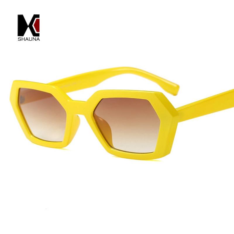 SHAUNA Vintage mujeres pequeñas gafas de sol cuadradas protección UV400