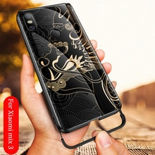 Aixuan Luxury Case For Xiaomi Mi Mix 3 Case Glass TPU Bumper Armor Tempered Glass Back Cover For Xiaomi Mix 3 Phone