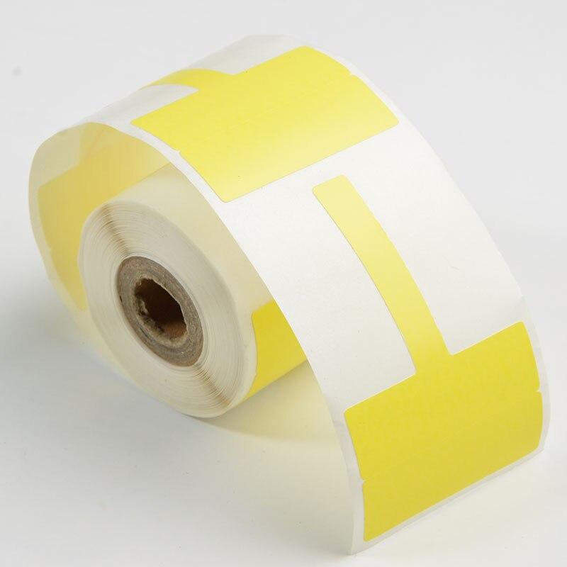 4PK عالية الجودة مزيج اللون الأبيض/اللون الأصفر T-نوع شبكة كابل التسمية 38 ملليمتر * 25 ملليمتر + 35 ملليمتر تستخدم ل PT-50DC طابعة