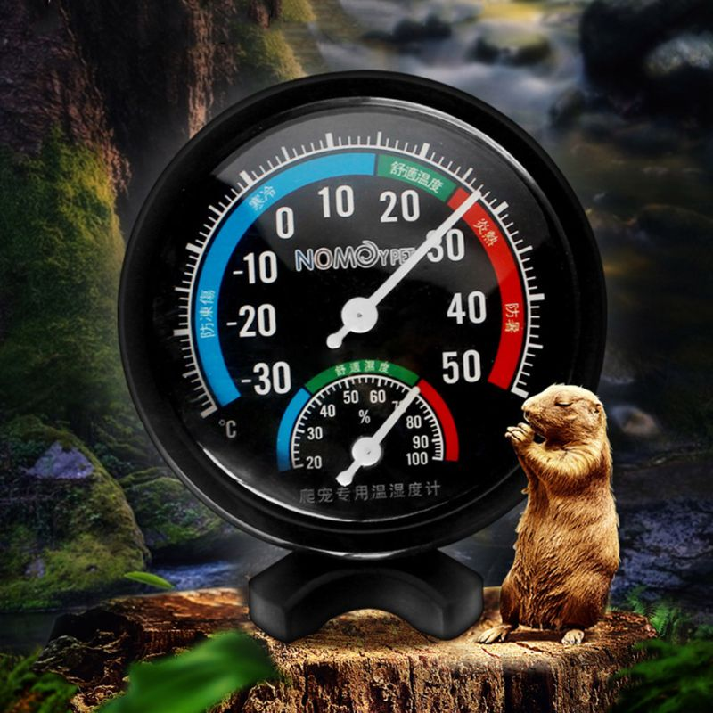 Reptile Temperature Thermometer Humidity Hygrometer Gauge Vivarium Tank Supplies