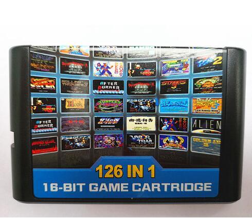 126 in 1 for Sega Megadrive Genesis Game card with Super Marioed Batman & Robin Battle Mania Contra Sonic Shinobi Pulseman