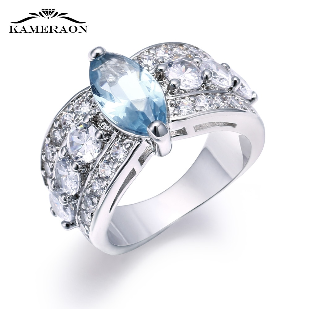 Zircônia cúbica austríaca bonito boêmio feminino anel de casamento amantes rosa azul roxo pedra 2019 nova jóias femininas amigos