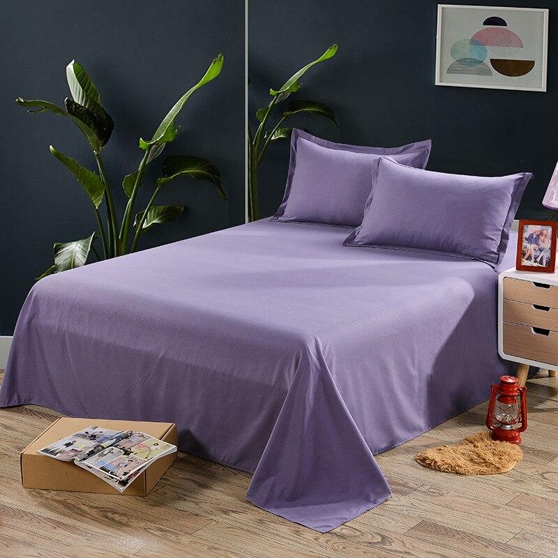 غطاء سرير مكعبة ، ملاءة سرير بلون سادة ، غطاء سرير مزدوج للطالب في مهجع ، يتضمن كيس وسادة