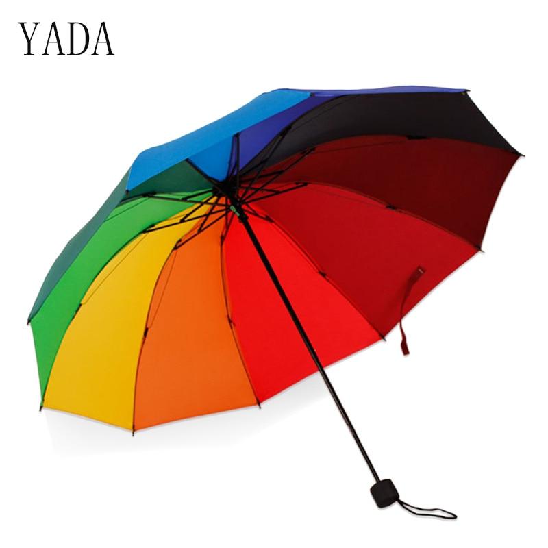 Guarda-chuva ao ar Guarda-chuva de Alta Qualidade para as Mulheres Yada Osso Arco-íris Livre Publicidade Chuva Feminino Guarda-chuva Dobrável Ys055 10