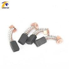 TUNGFULL 4 قطعة مثقاب صغير مطحنة كهربائية استبدال فرش كربون الغيار أجزاء محركات كهربية الروتاري أداة 5*8*13 مللي متر