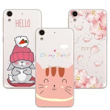 "3D Relief Lace Flowers Case Cover For HTC Desire 626 628 626W 626G 626S Cute Cat Case Fundas For HTC 628 Desire Dual Sim 5.0"""