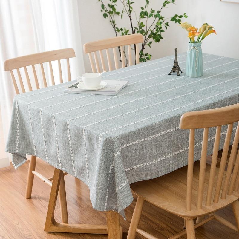 Mantel Rectangular minimalista de gran tamaño de 140x250cm, mantel de lino Rectangular, para el hogar mantel, decoración para el comedor, mantel de tela para mesa