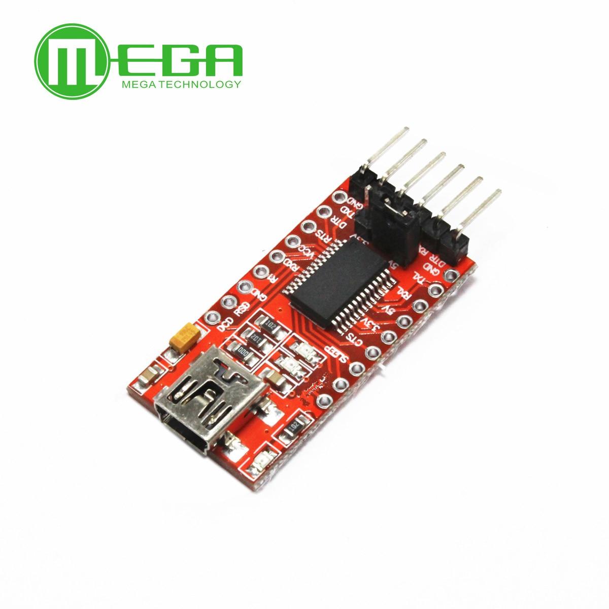 1 шт., FT232RL FT232 FTDI USB 3,3 V 5,5 V к TTL Серийный адаптер модуль для A-rduino мини-порт