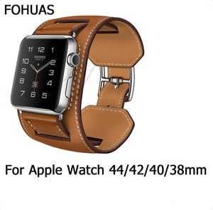 New Arrival  Genuine Leather Band  For Apple Watch Series 4 3 2 1  Compatible With Apple Watch 44mm 42mm 40mm 38mm